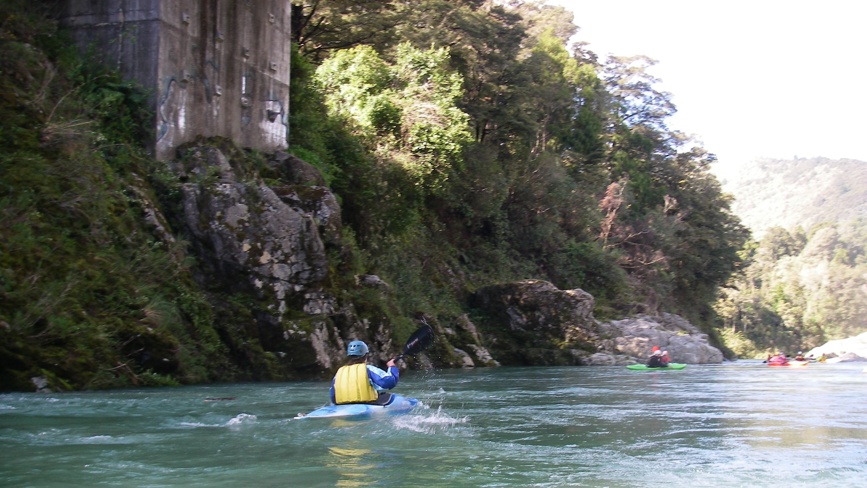 Jules Kayaking on the Pelorous River