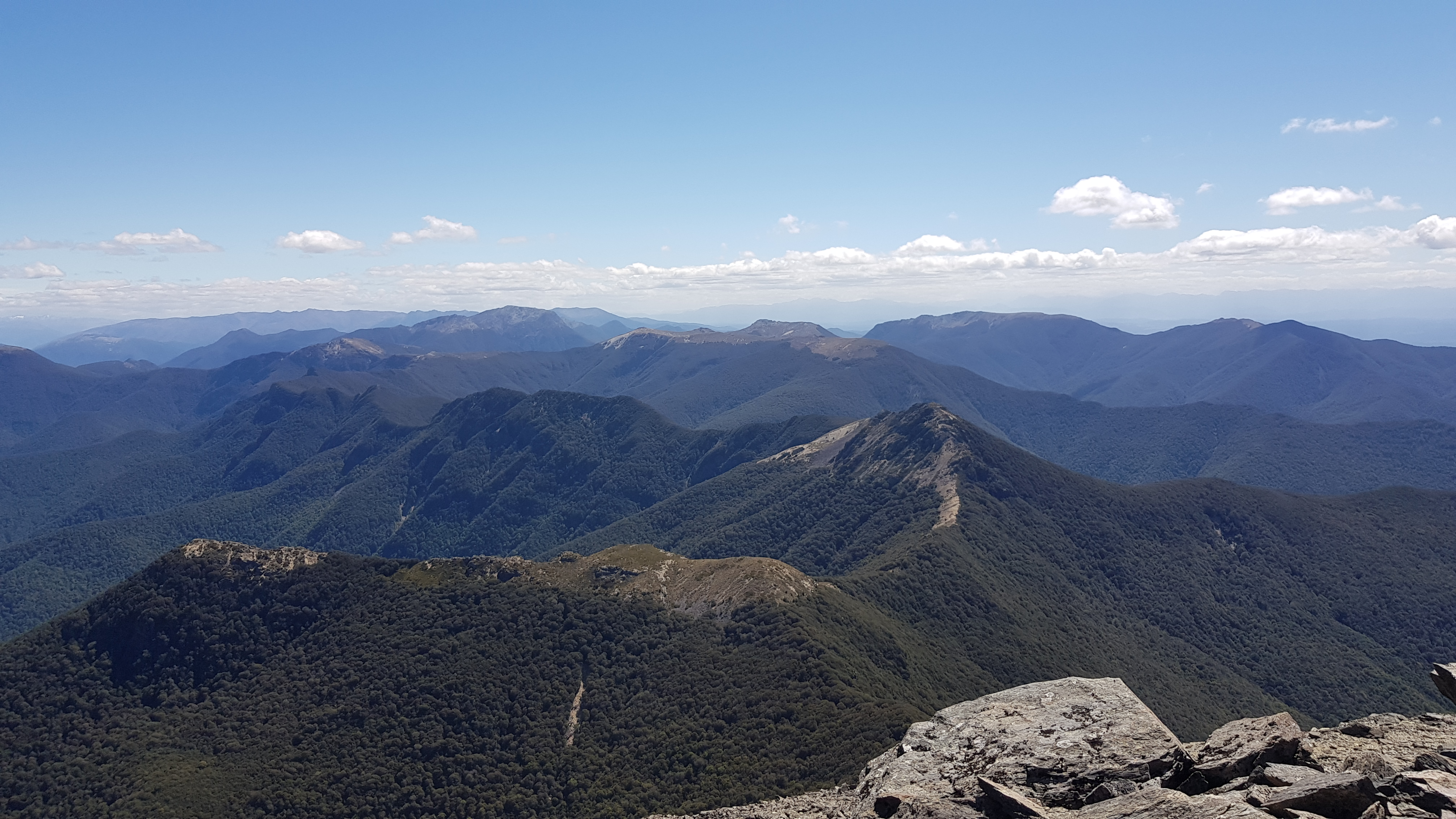 The Richmond Range from Mount Richmond
