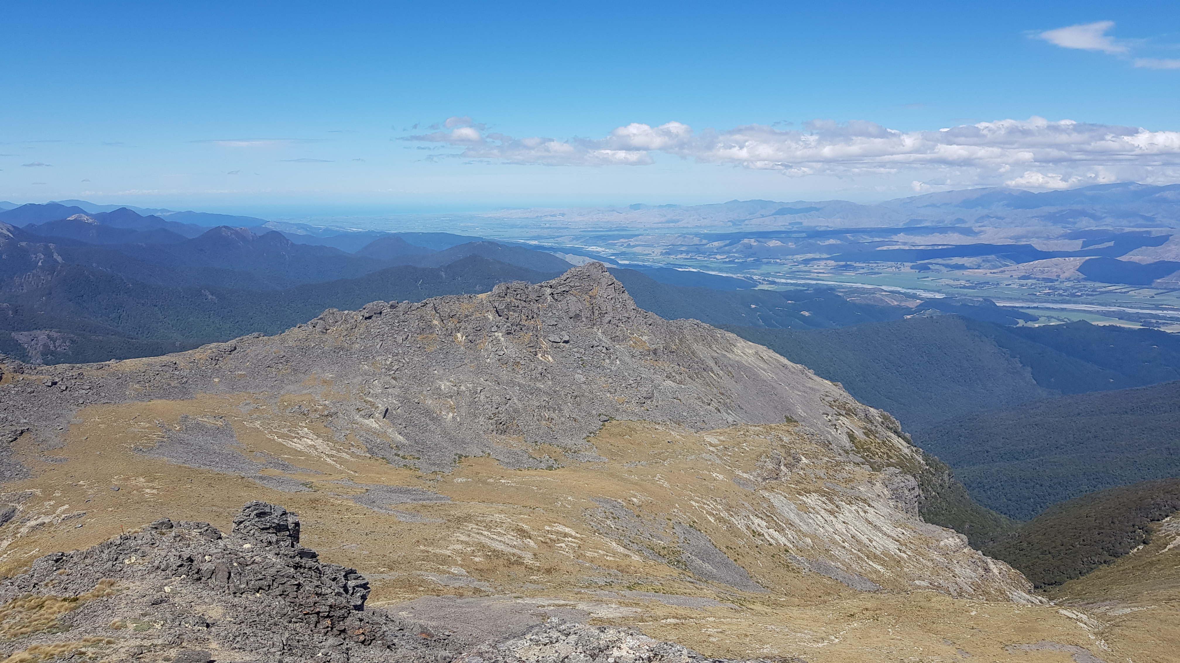 Johnston Peak and the Wairau River Valley from Mount Richmond