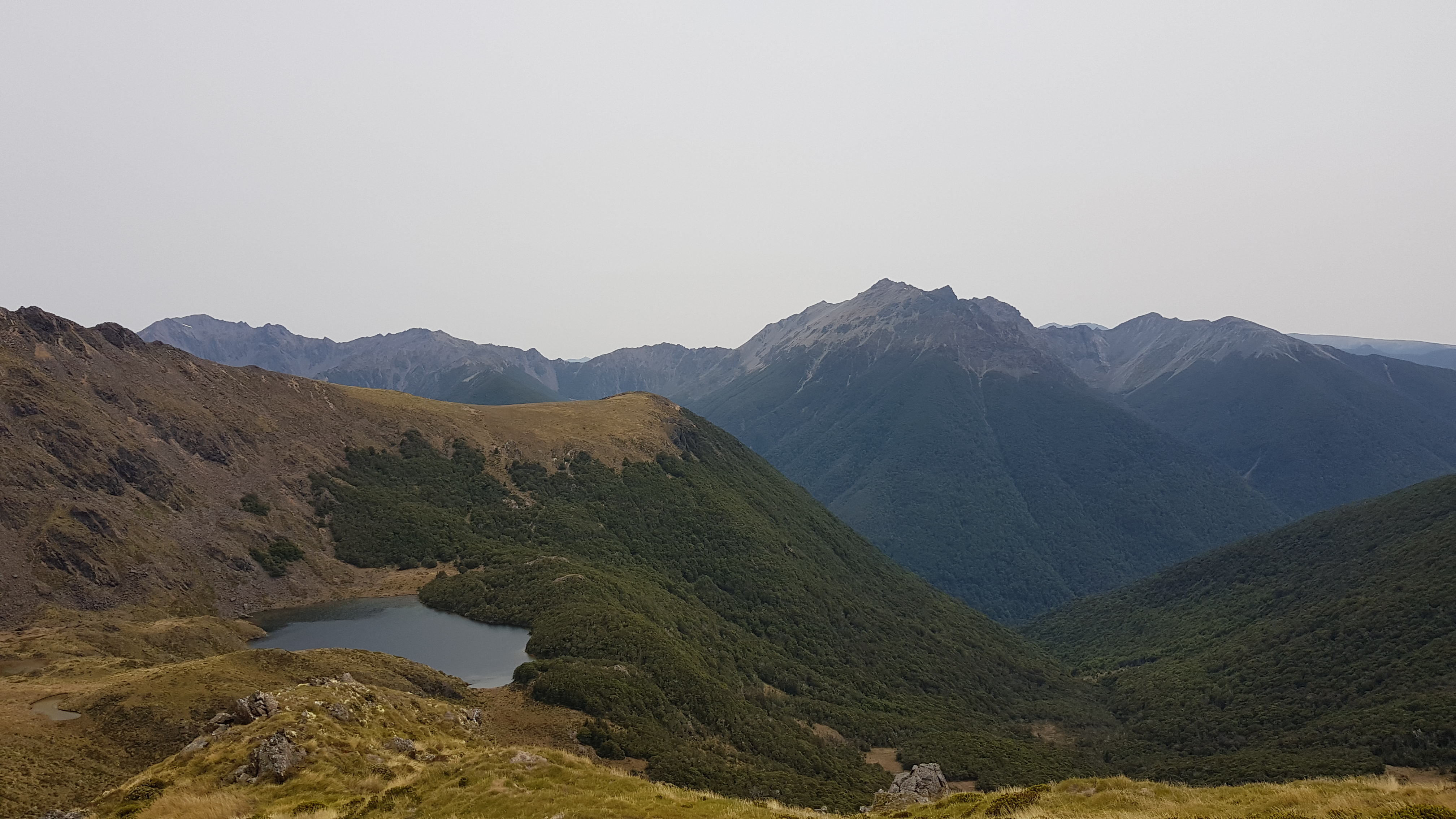Ruby Lake beneath Mt Benson