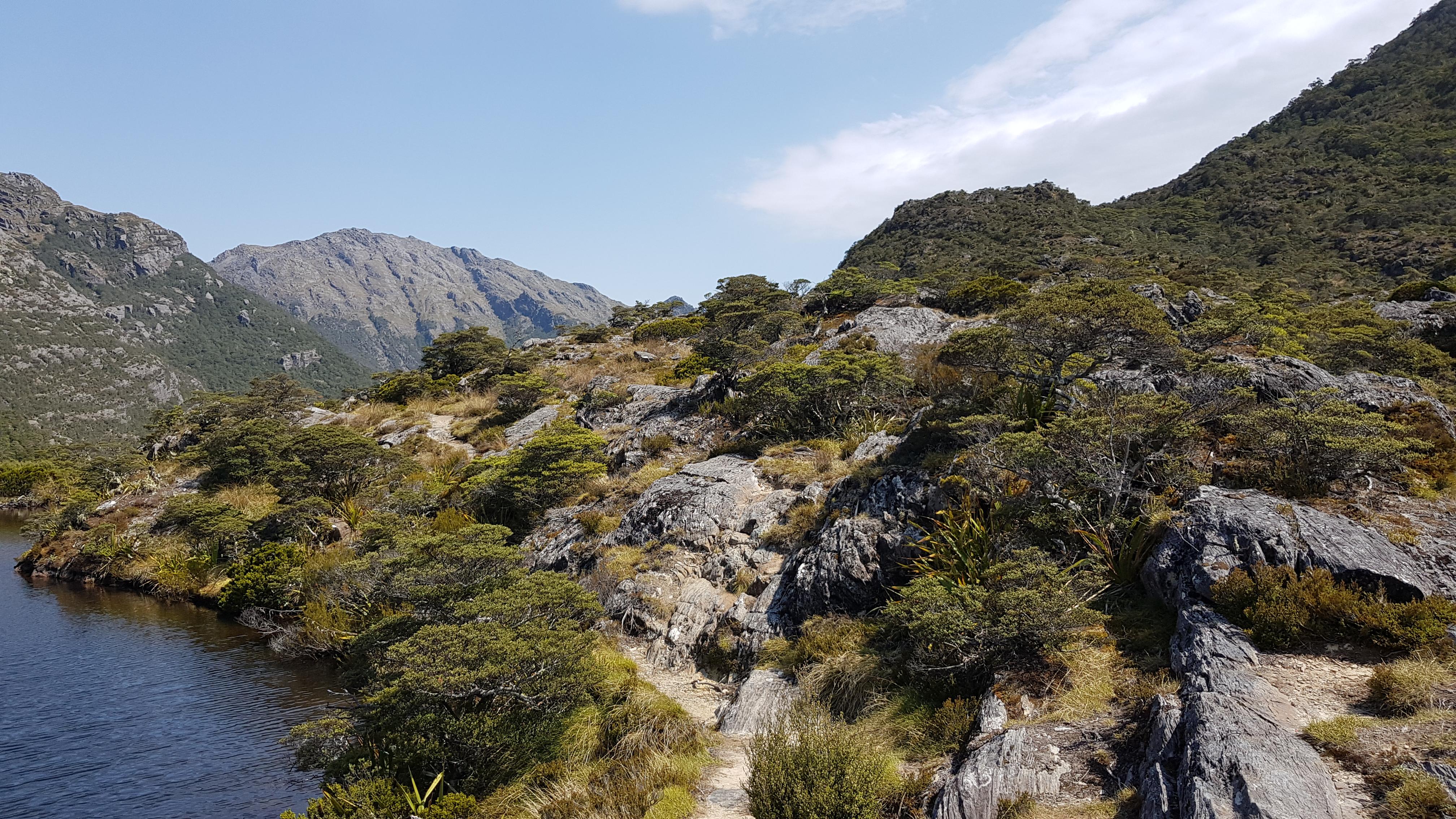 The tarn near Fenella hut