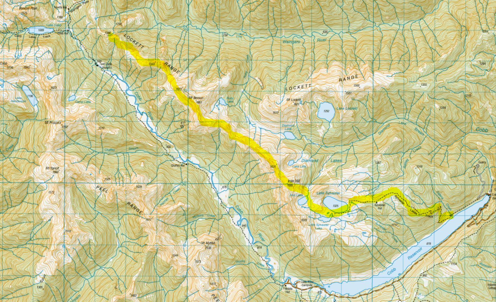 Day 1 - Across the tops of the Lockett Range