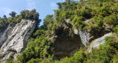 The cliffs on Dilemma Creek Gorge