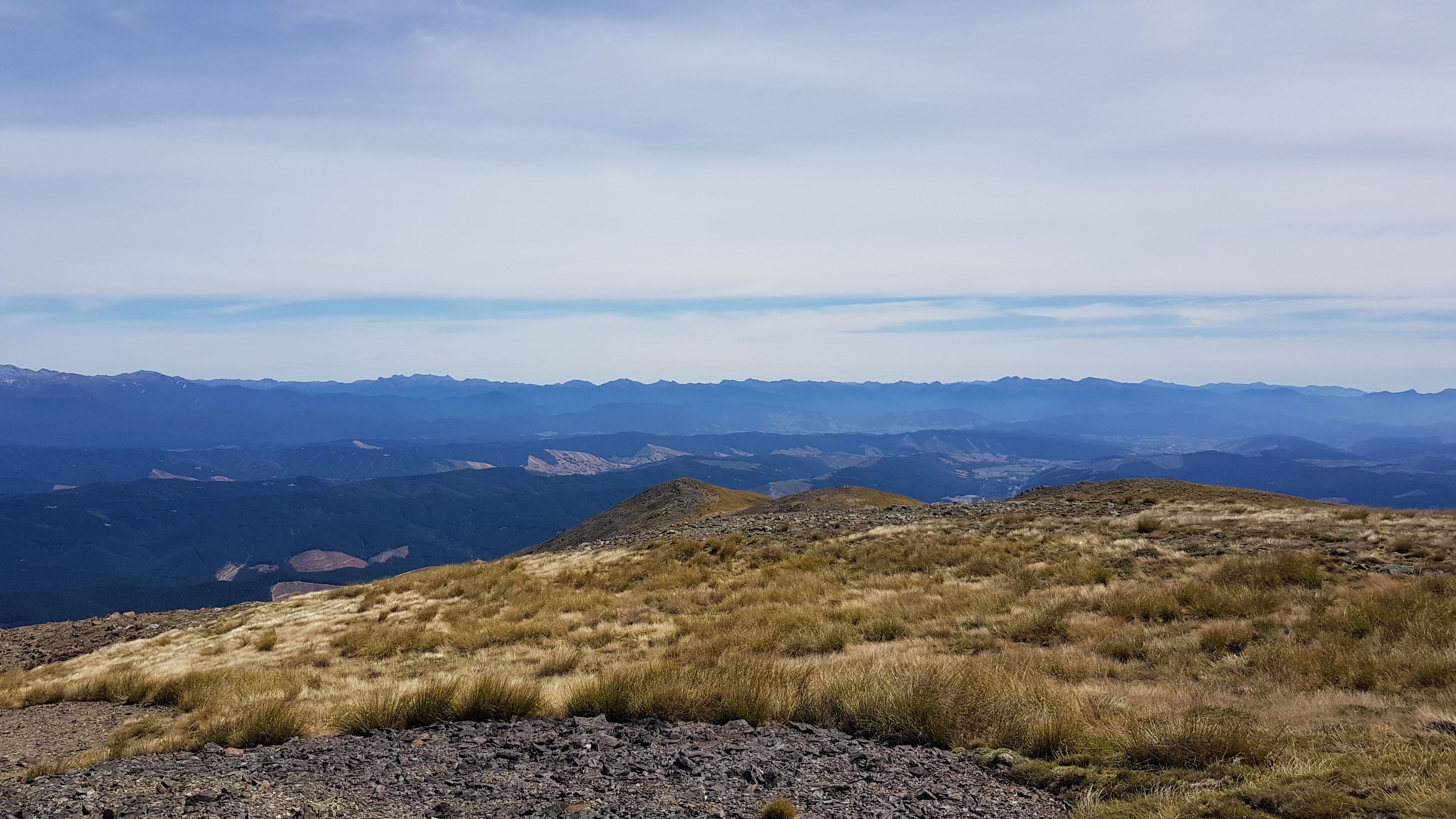 Looking towards Gordons Knob, Golden Downs and Kahurangi National Park