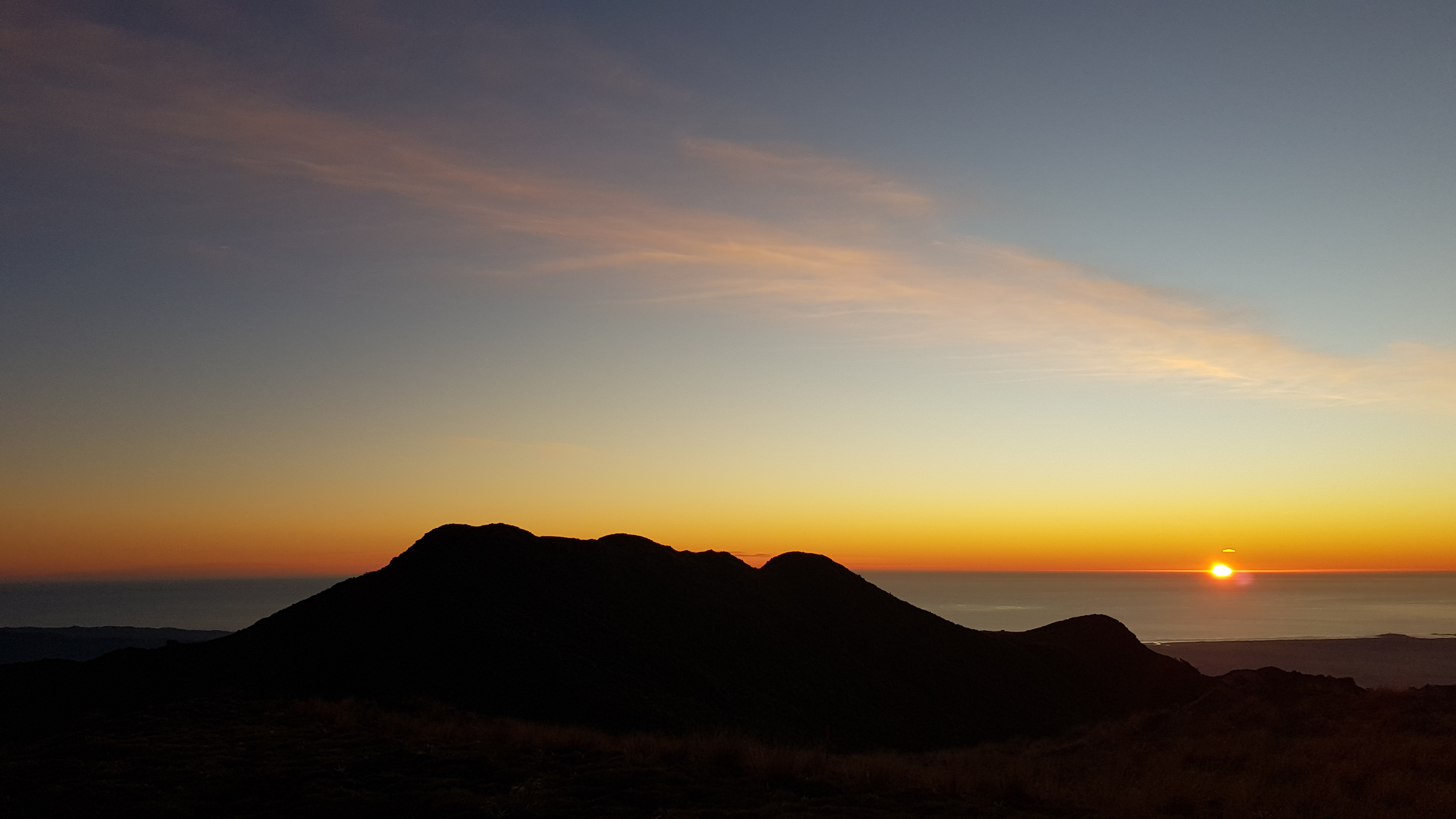 Marvellous West Coast Sunset from Buckland Peaks