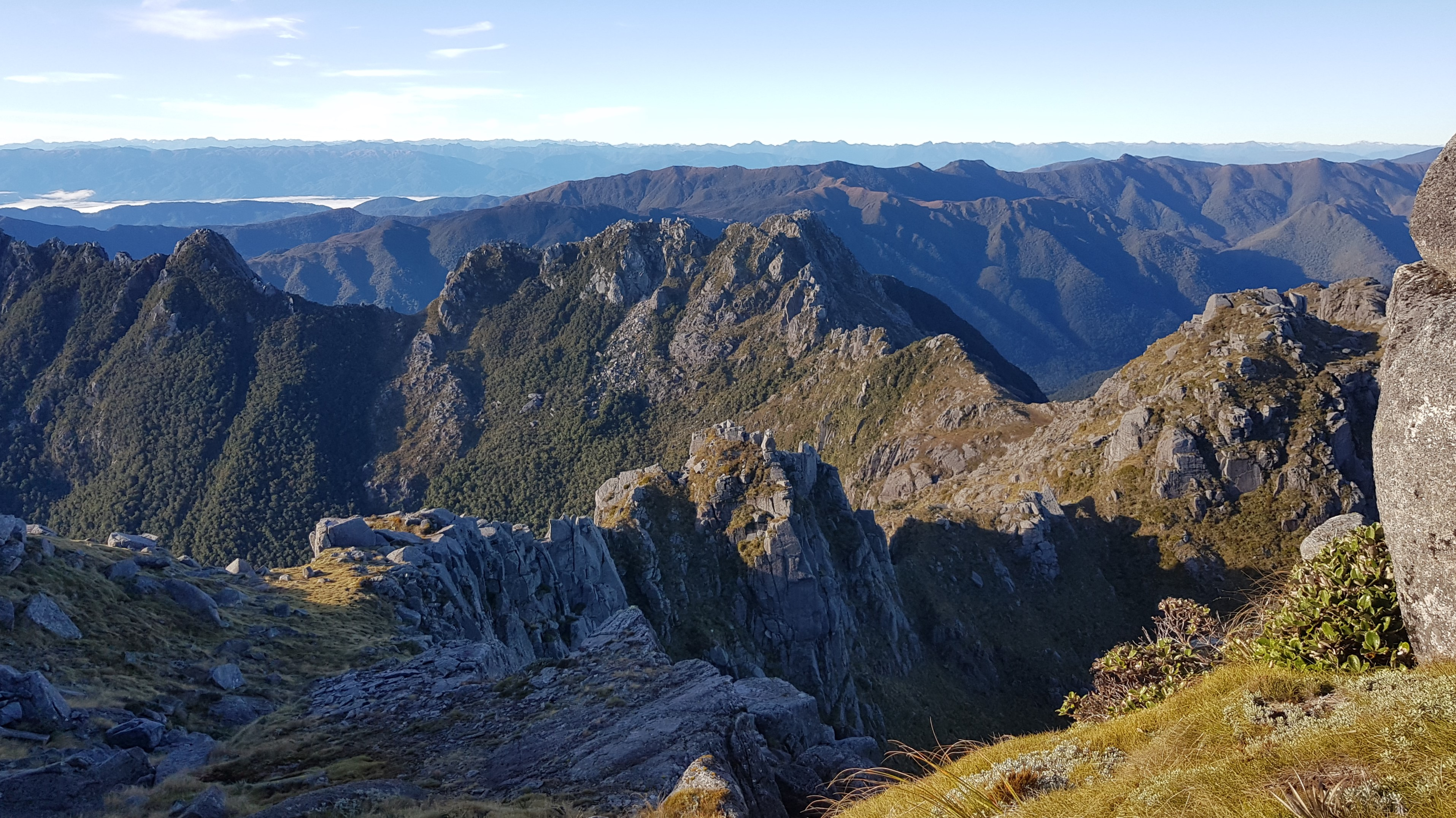 The ridge linking Buckland Peaks with the Paparoa range