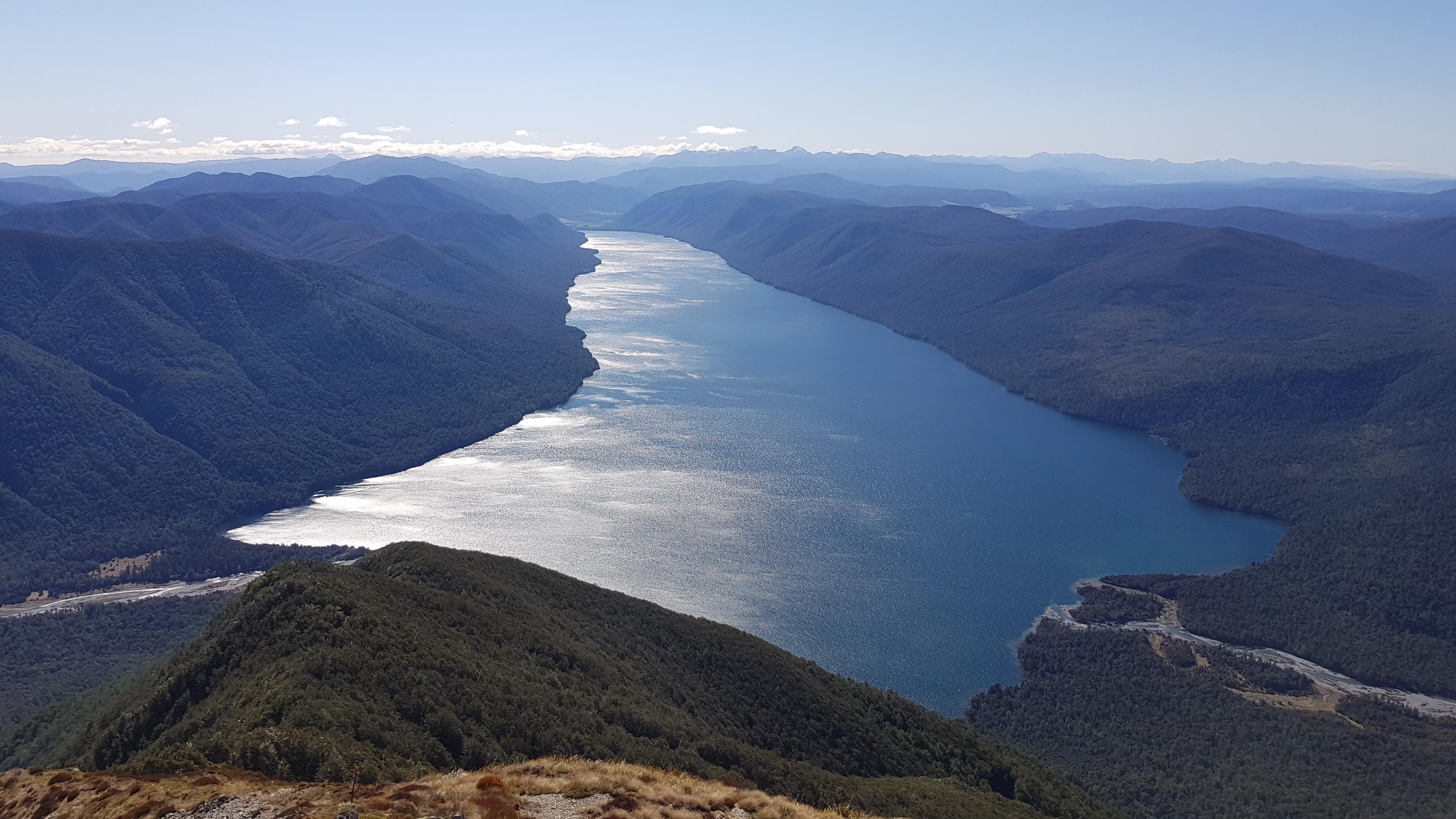 Lake Rotoroa from Mt Misery