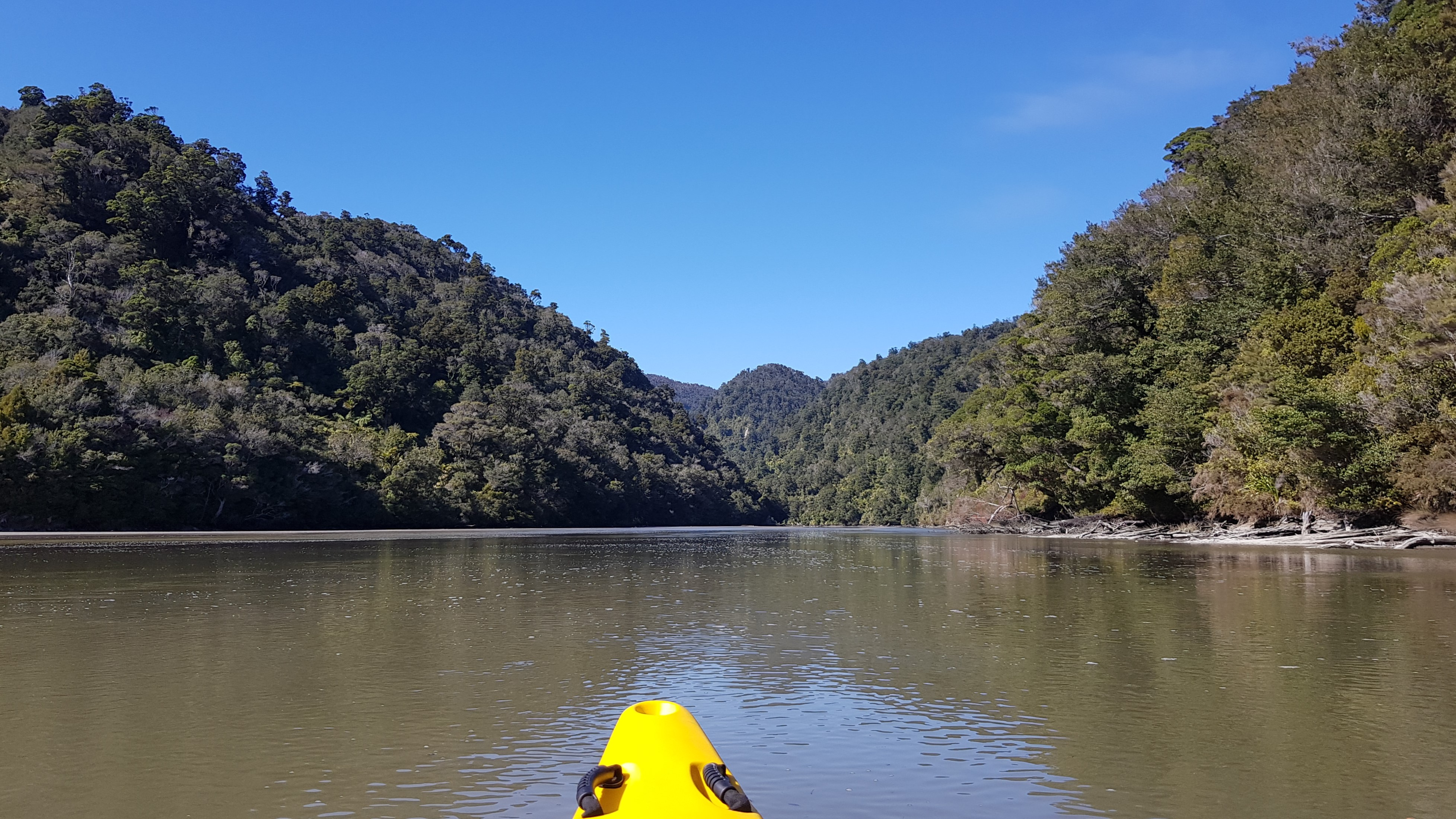 Heading up the Wairoa River