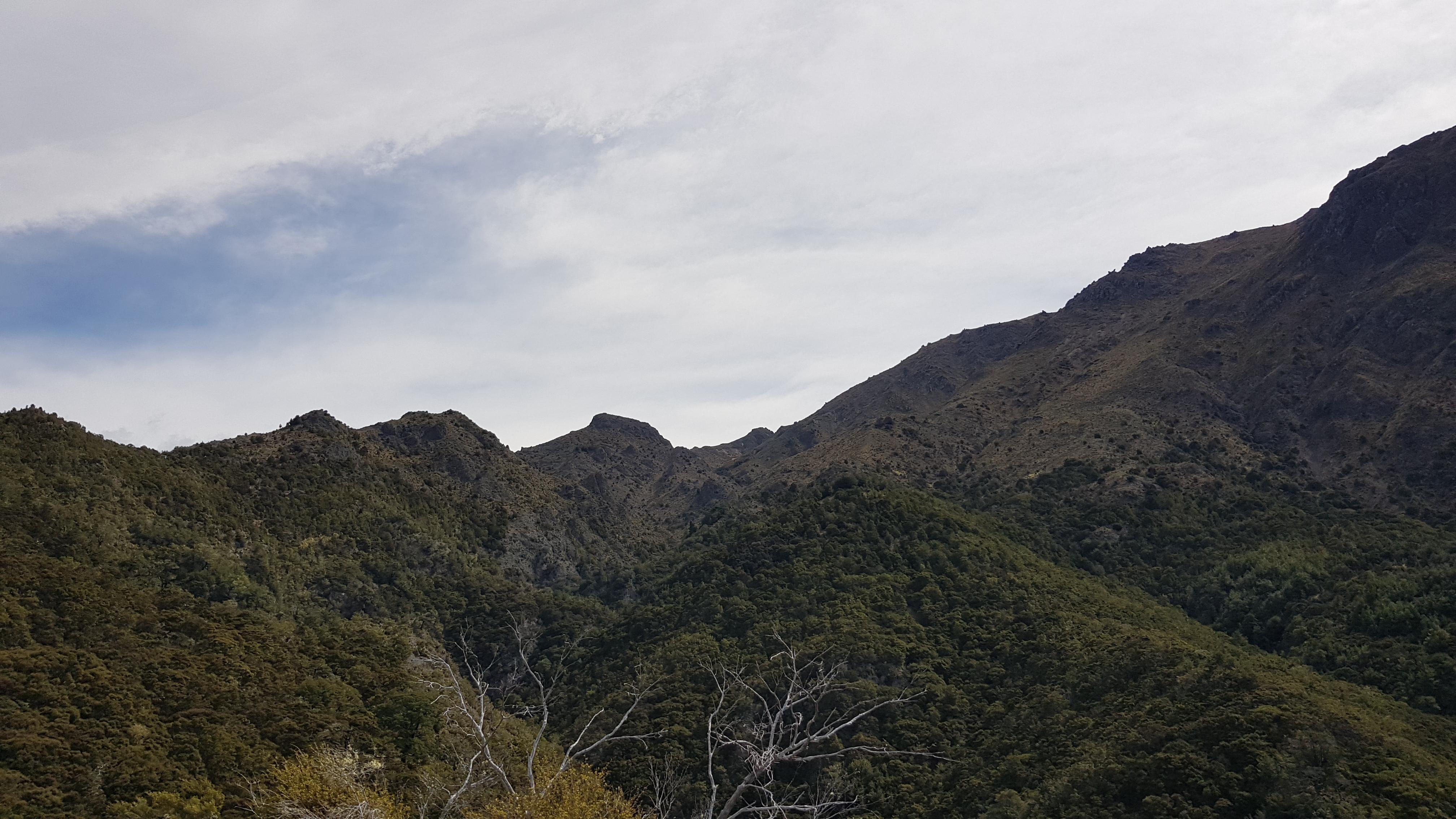Views across to the Blairich range
