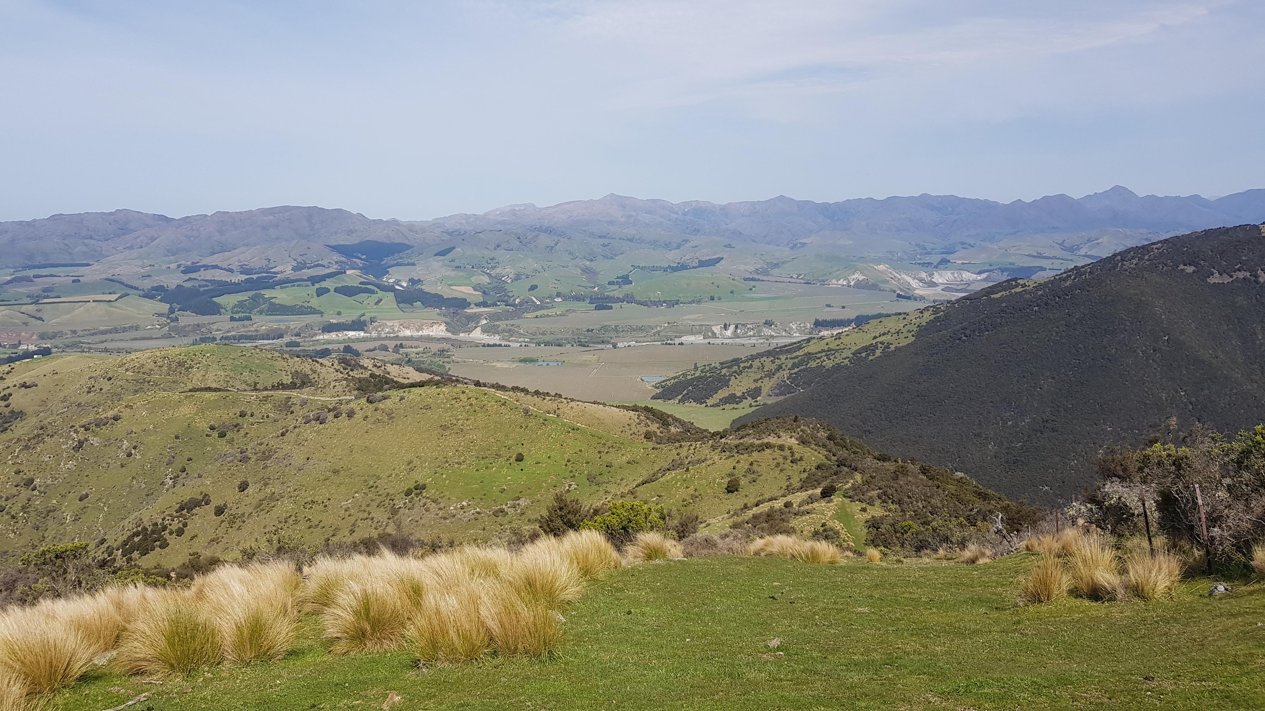 The farm track down the Blairich range