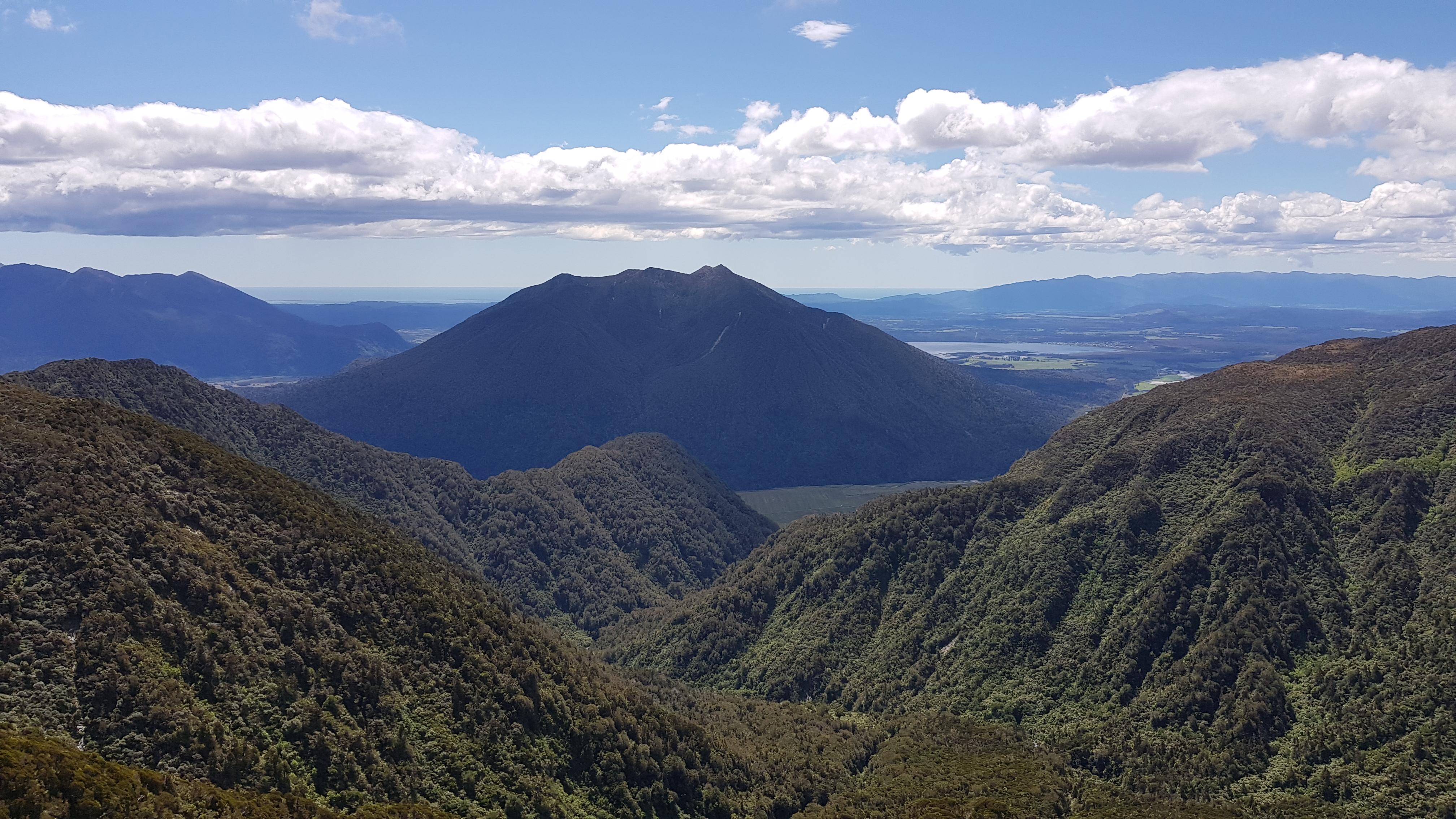 Looking back (West) to Te Kinga