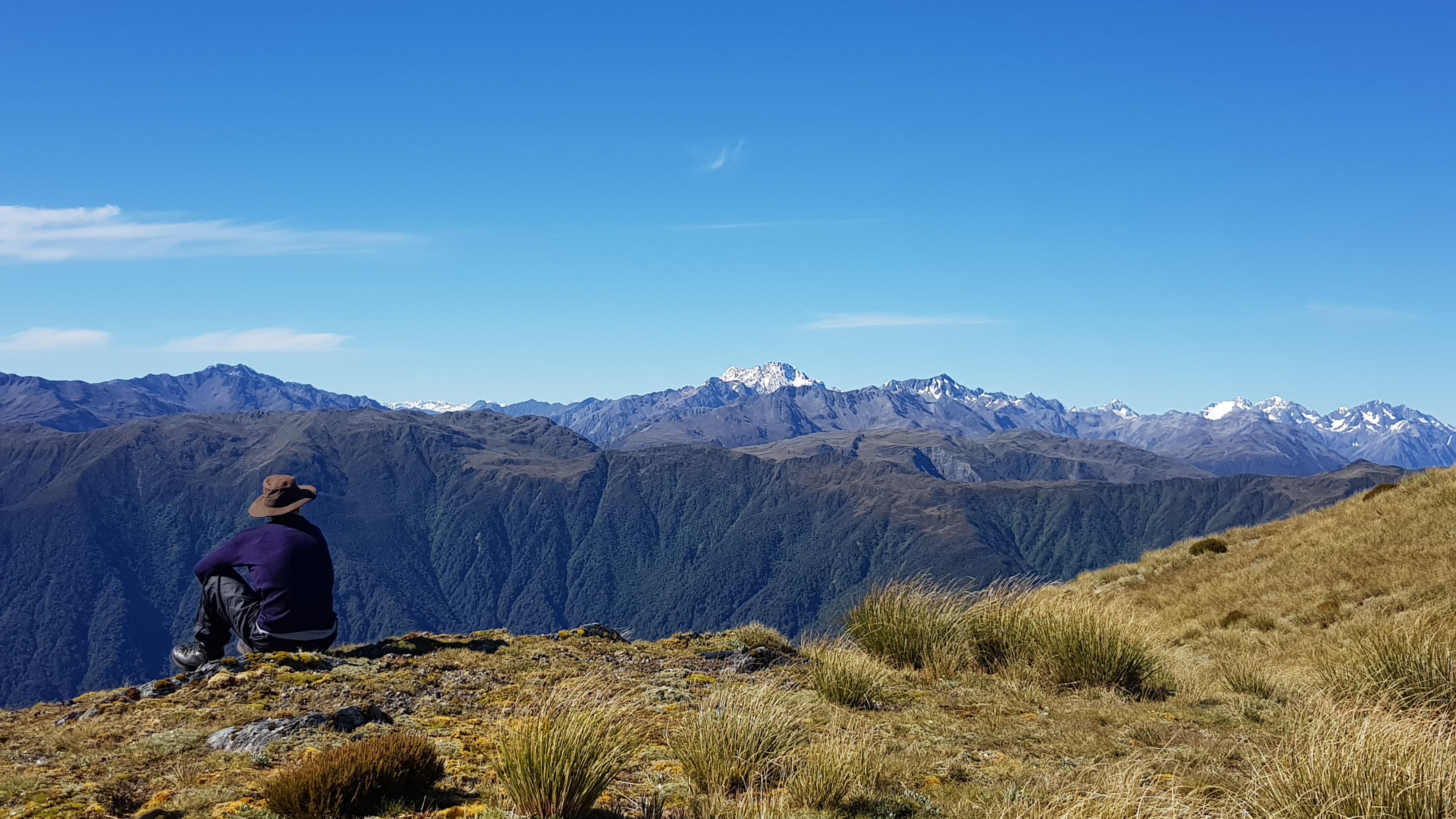 Views to the South from the Kaimata range tarns