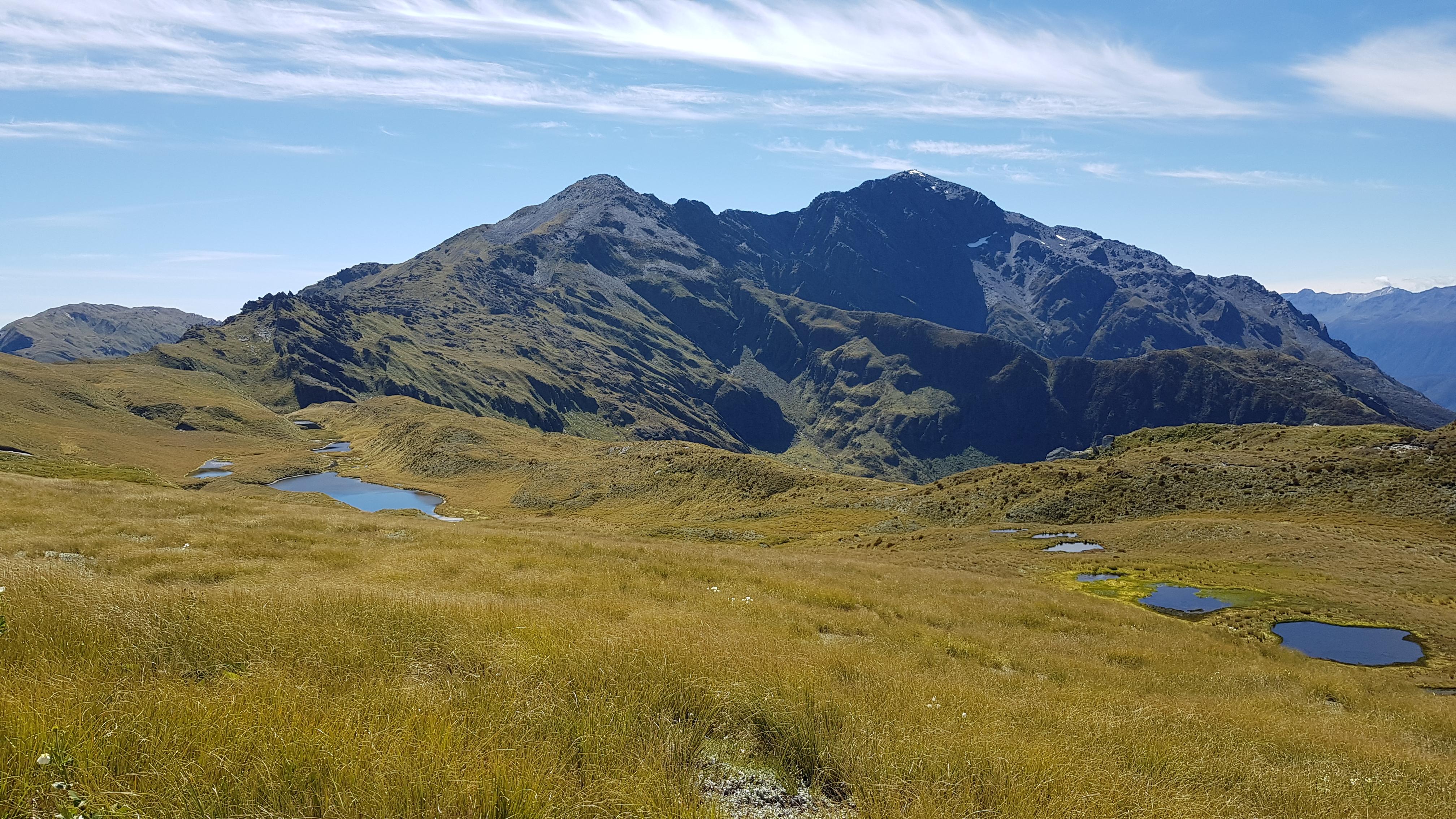 From the Kaimata range tops towards Mt Alexander