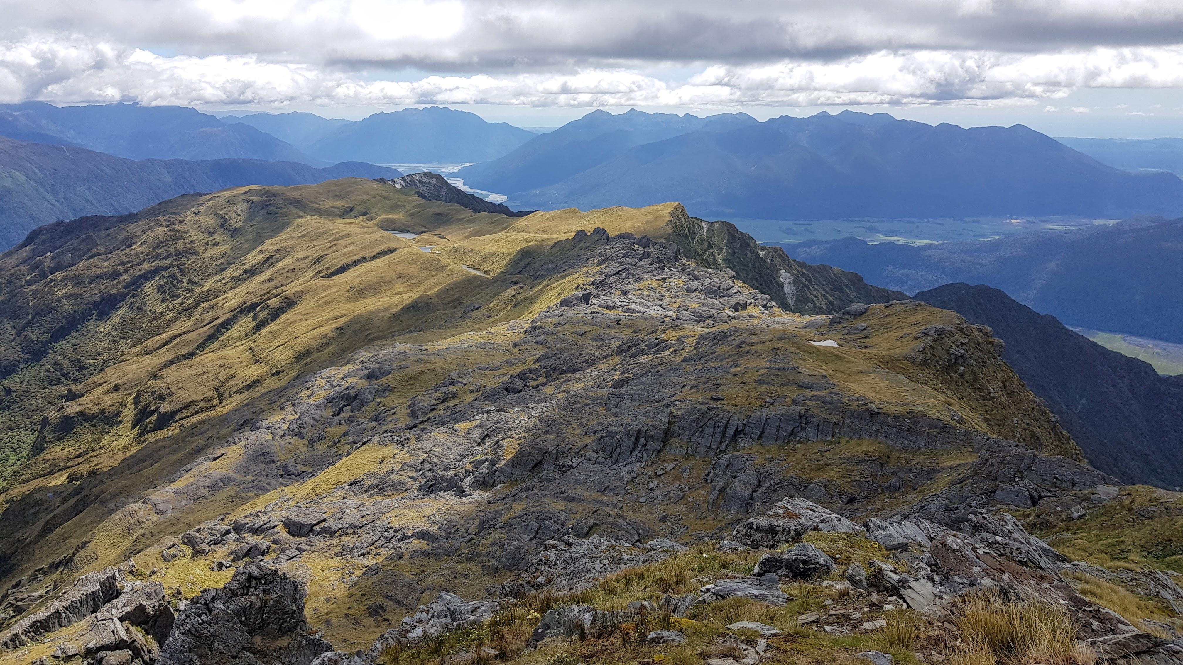 Views down the mountain