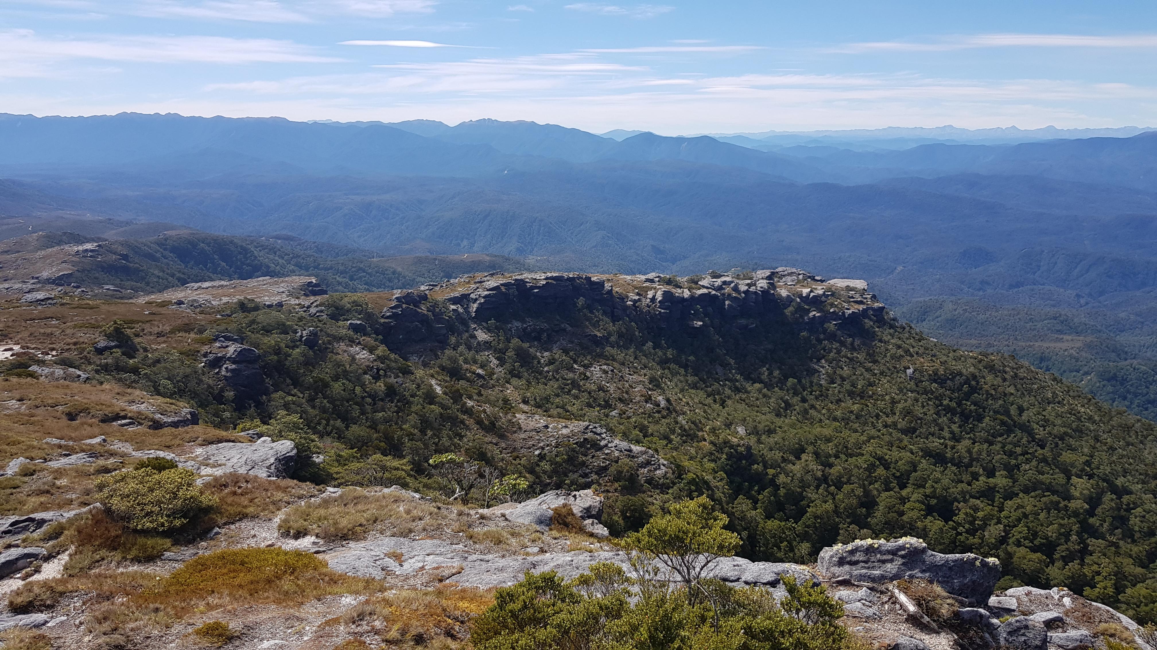 Towards the Kahurangi from Mt William
