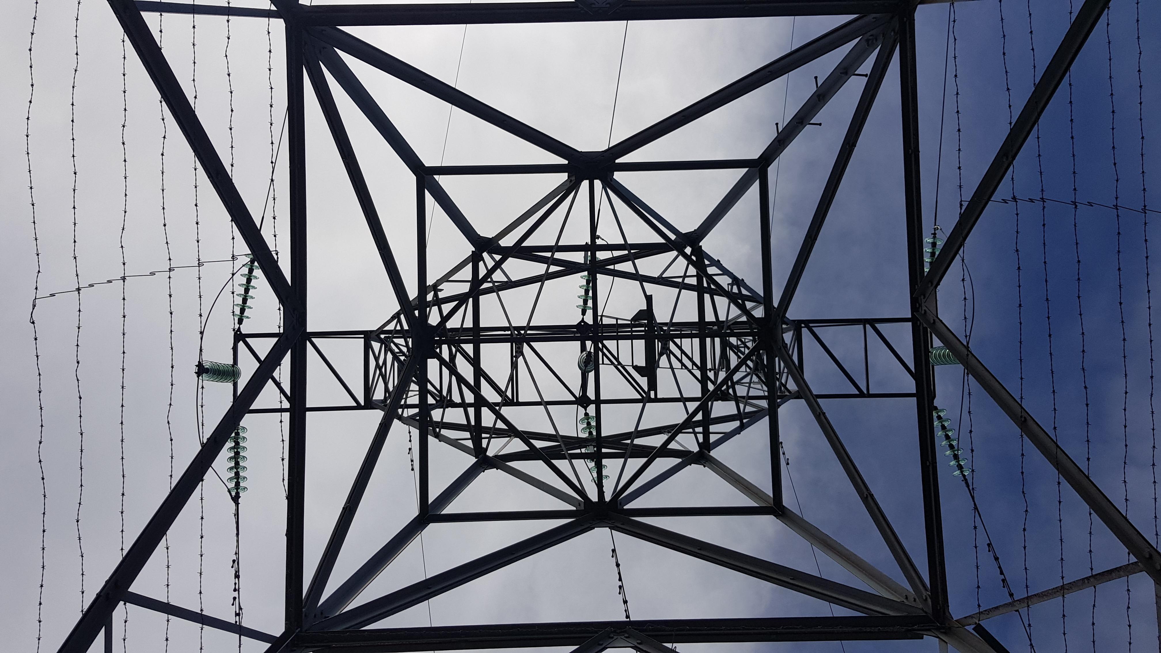 Reaching the pylon