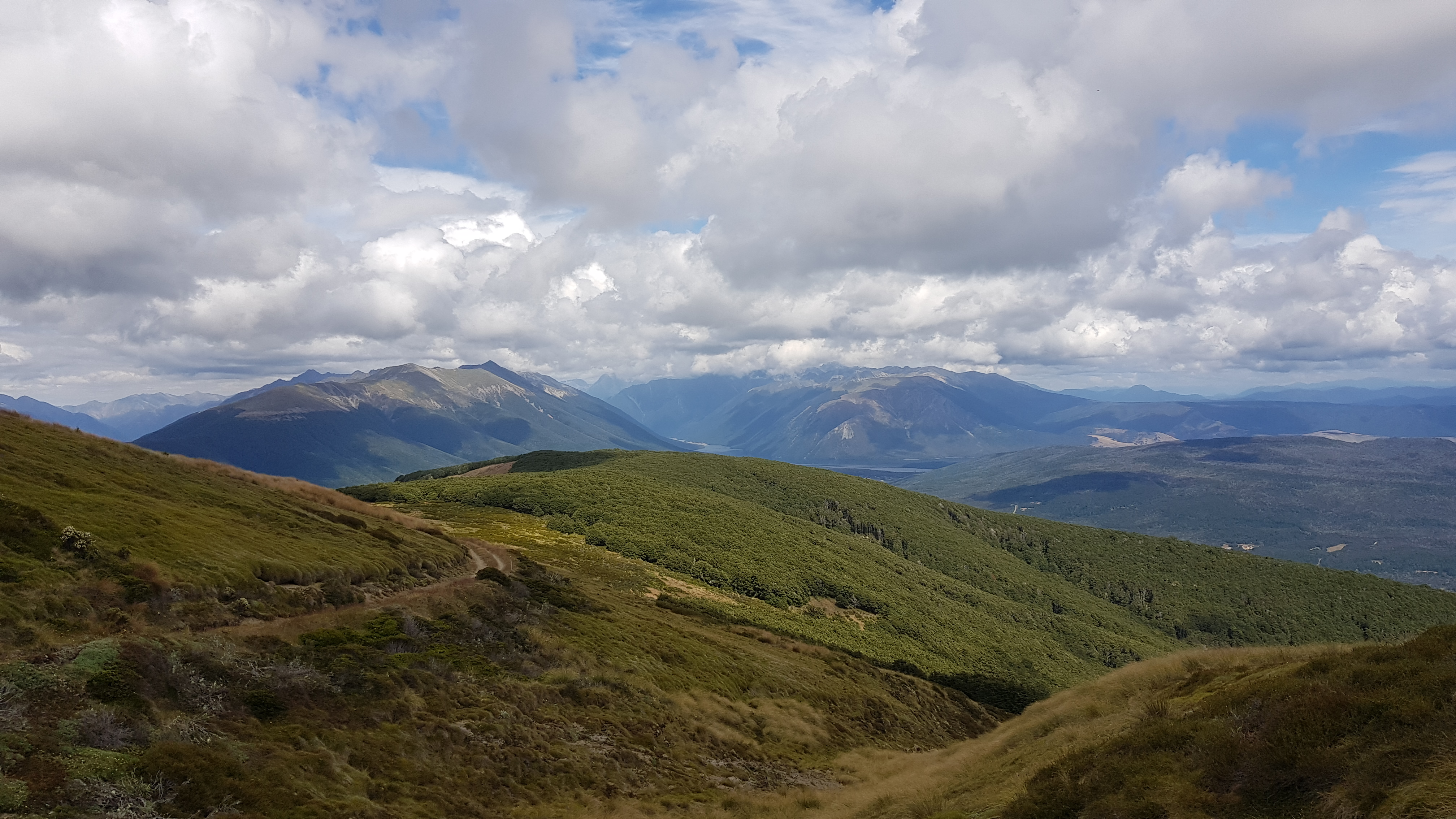 Views of Nelson Lakes National Park from Beebys track