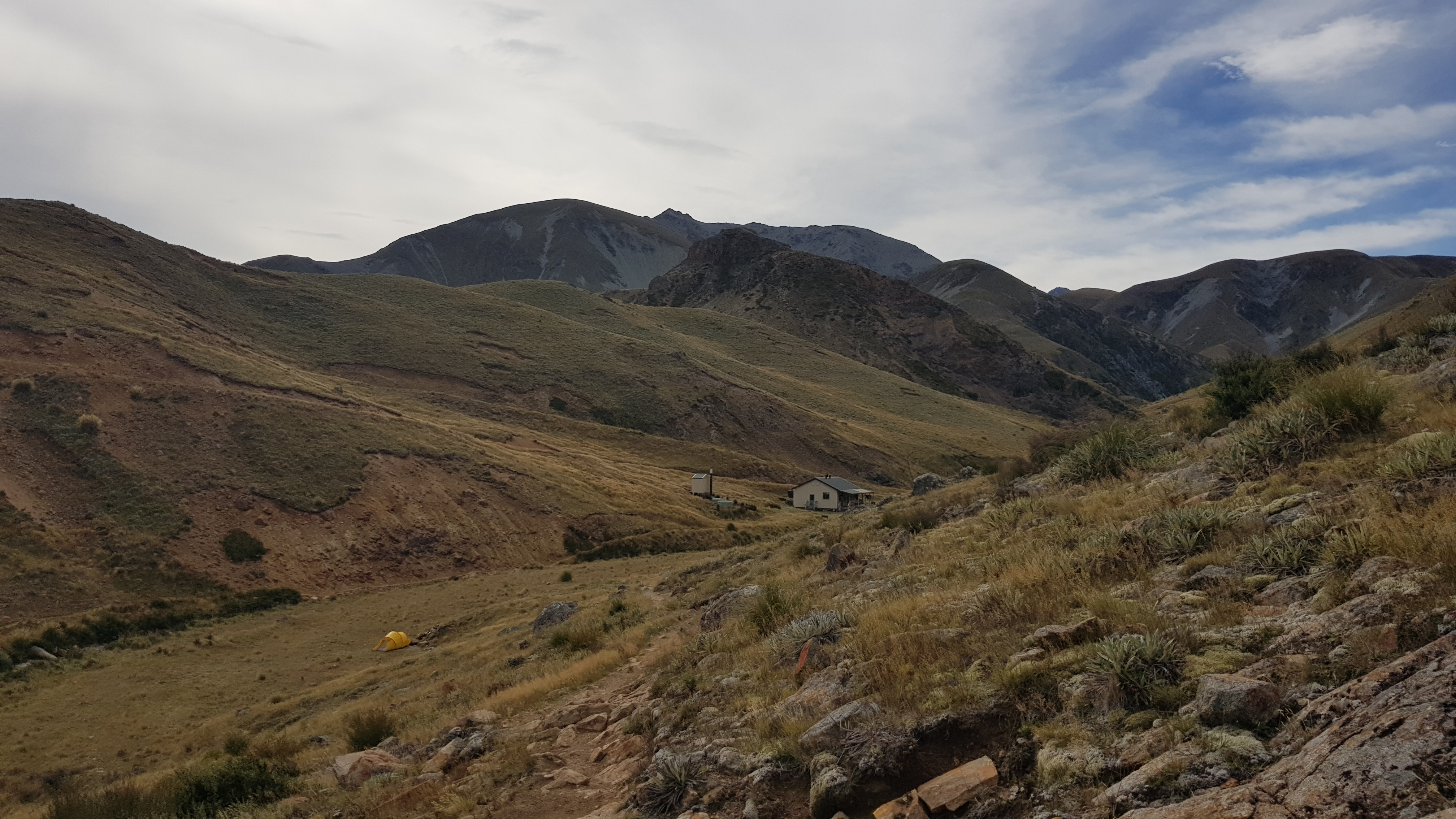 Looking back at Woolshed Creek hut