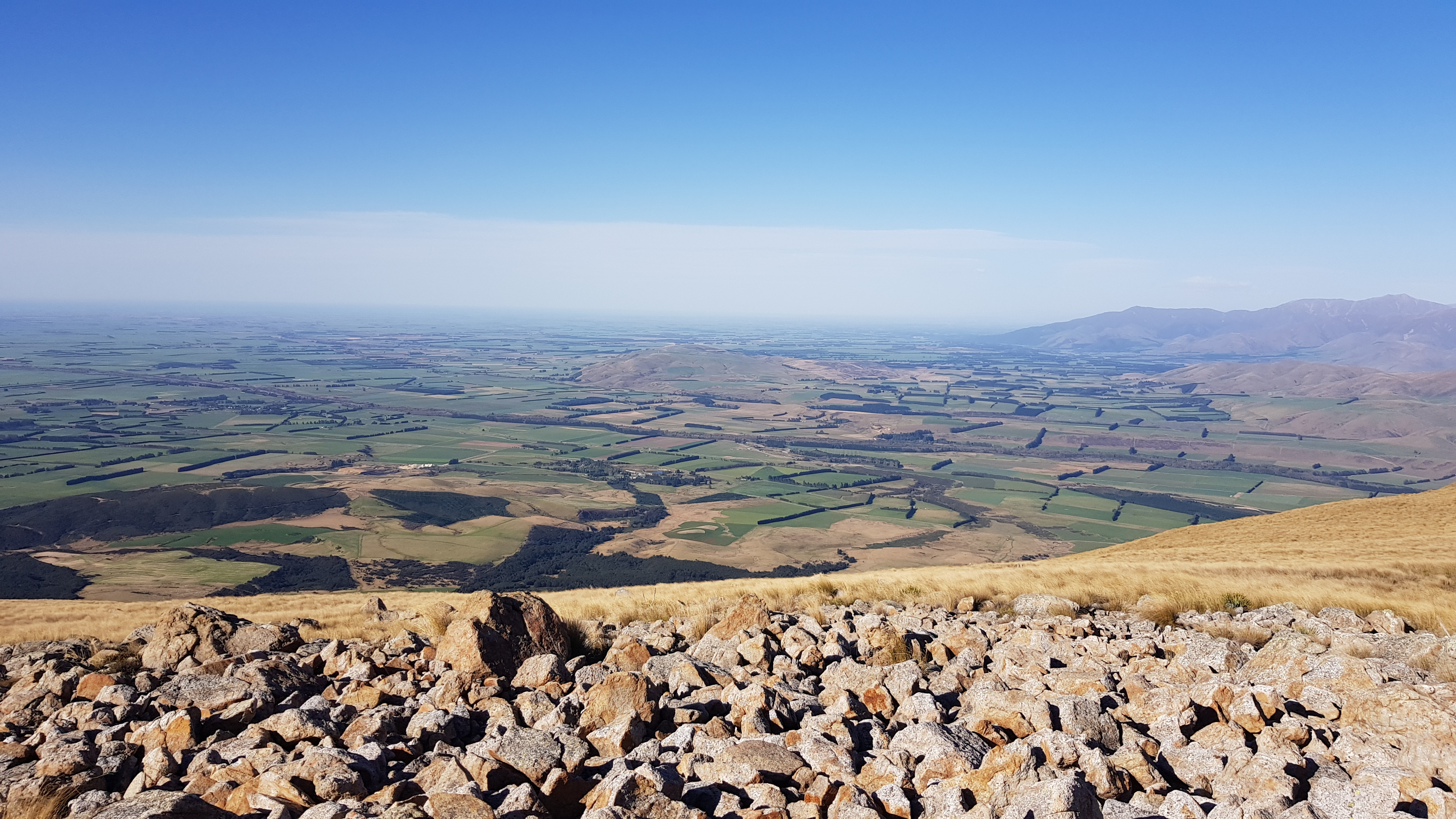 The Canterbury plains from Mt Somers