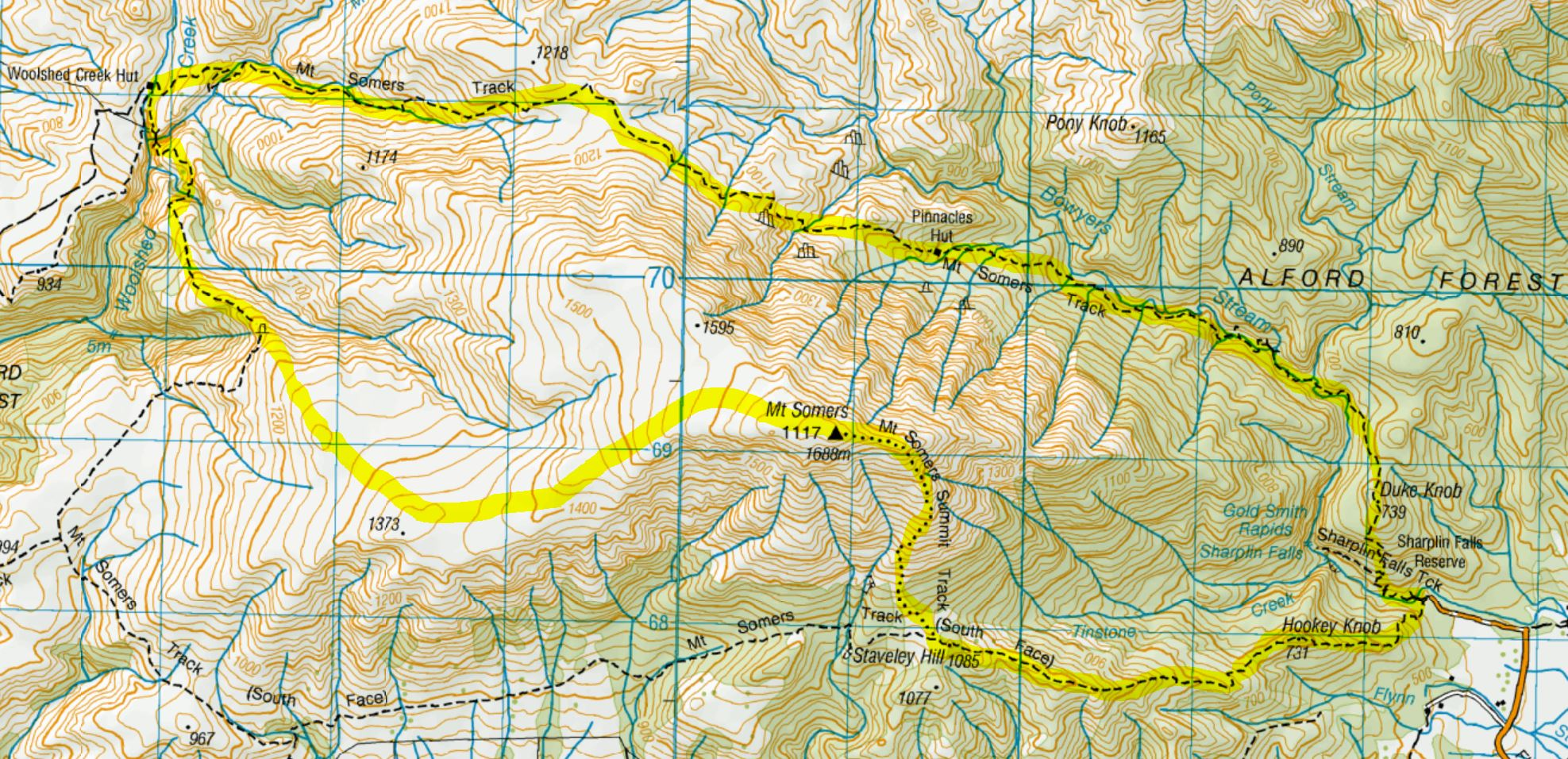 Our Mt Somers route