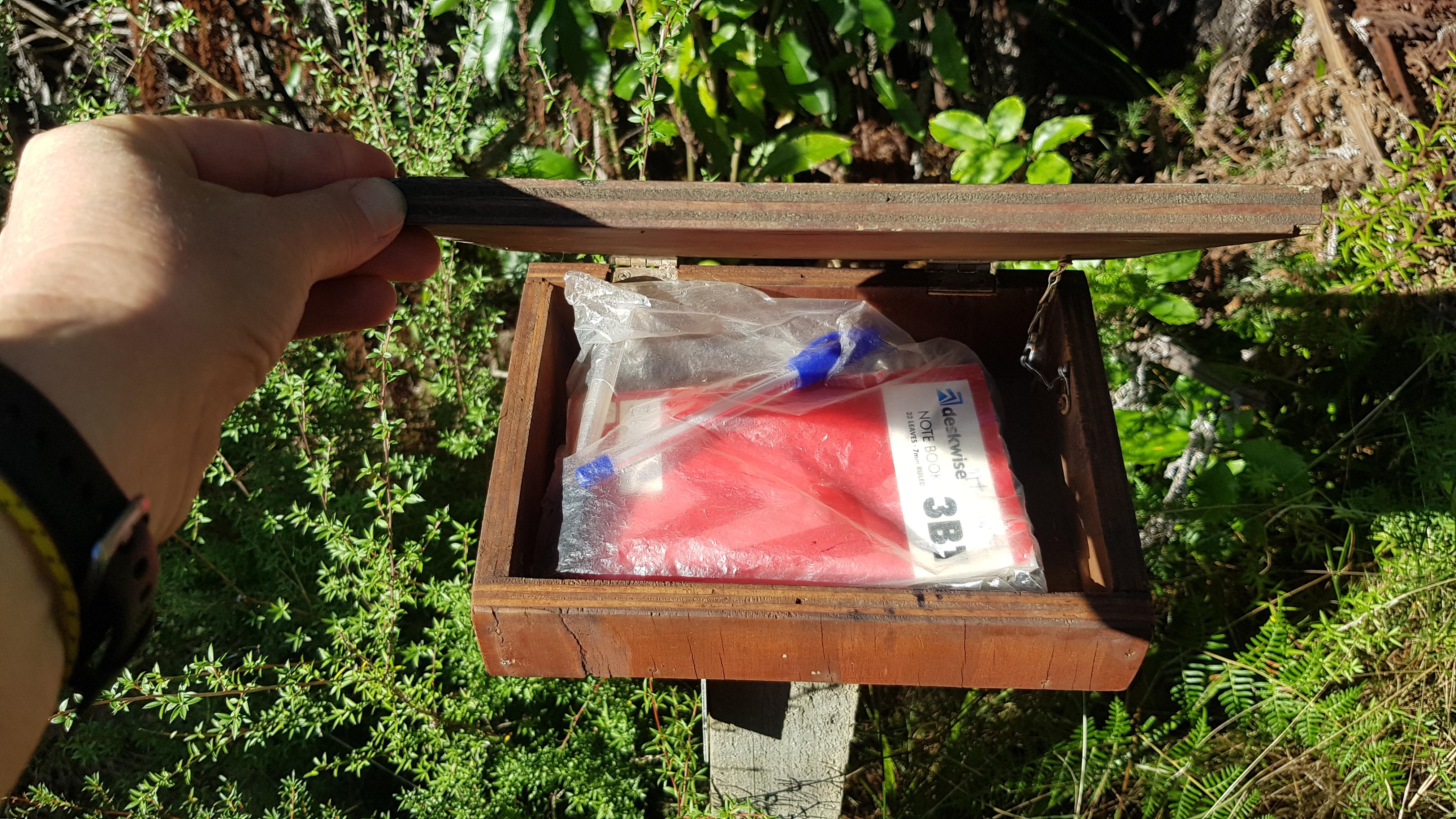 Mt Cawte intentions logbook