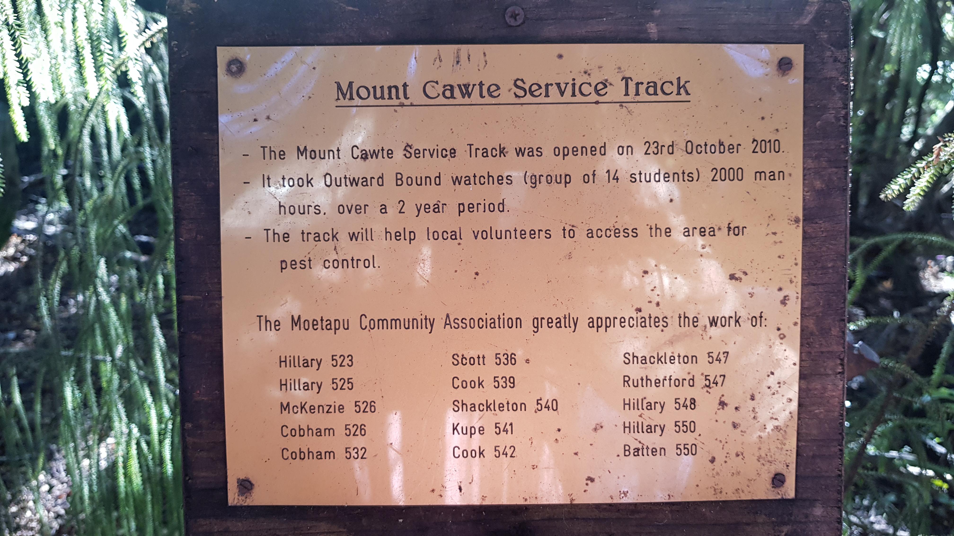 Building the Mt Cawte Track