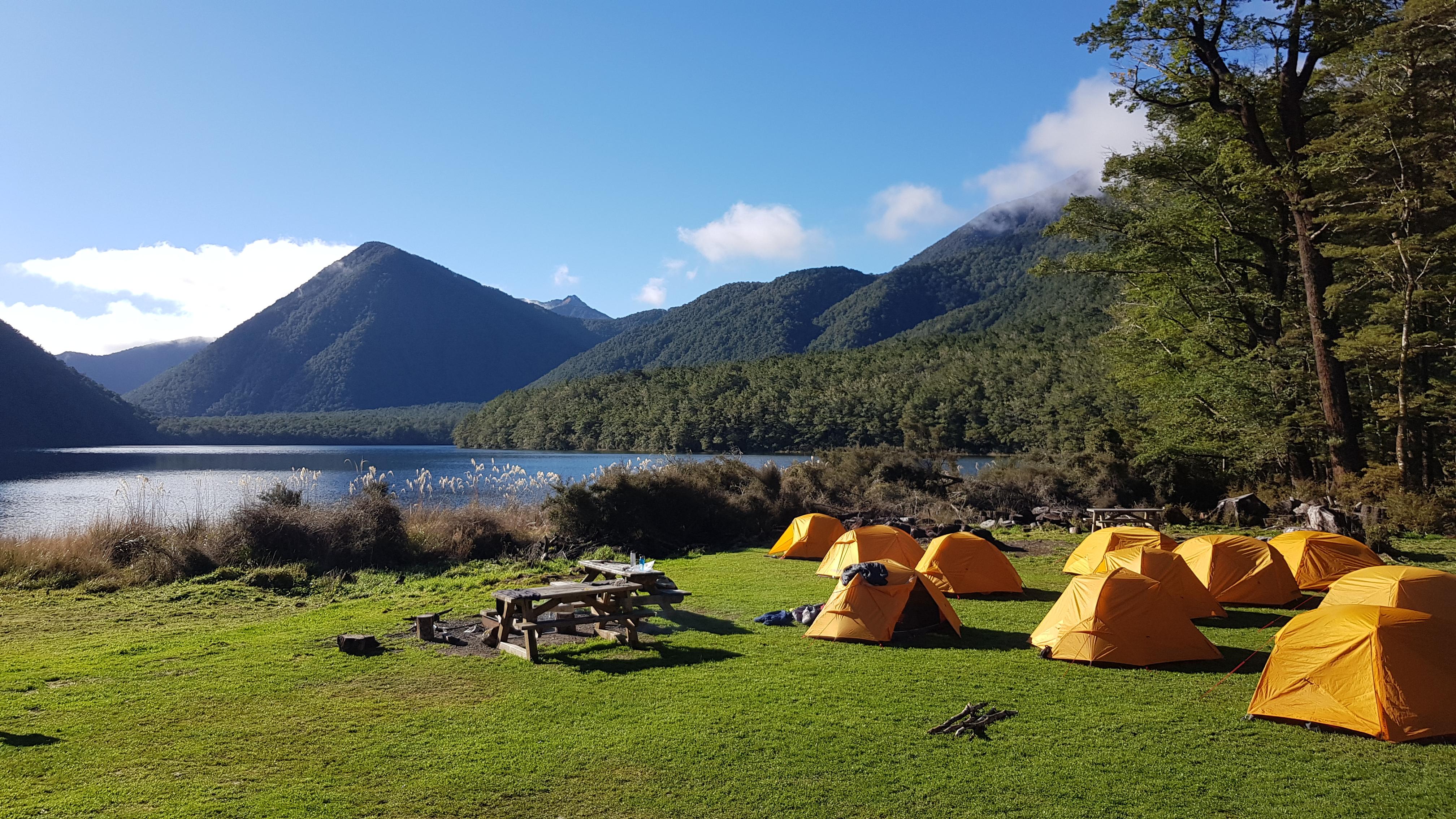 Camping at Lake Daniell