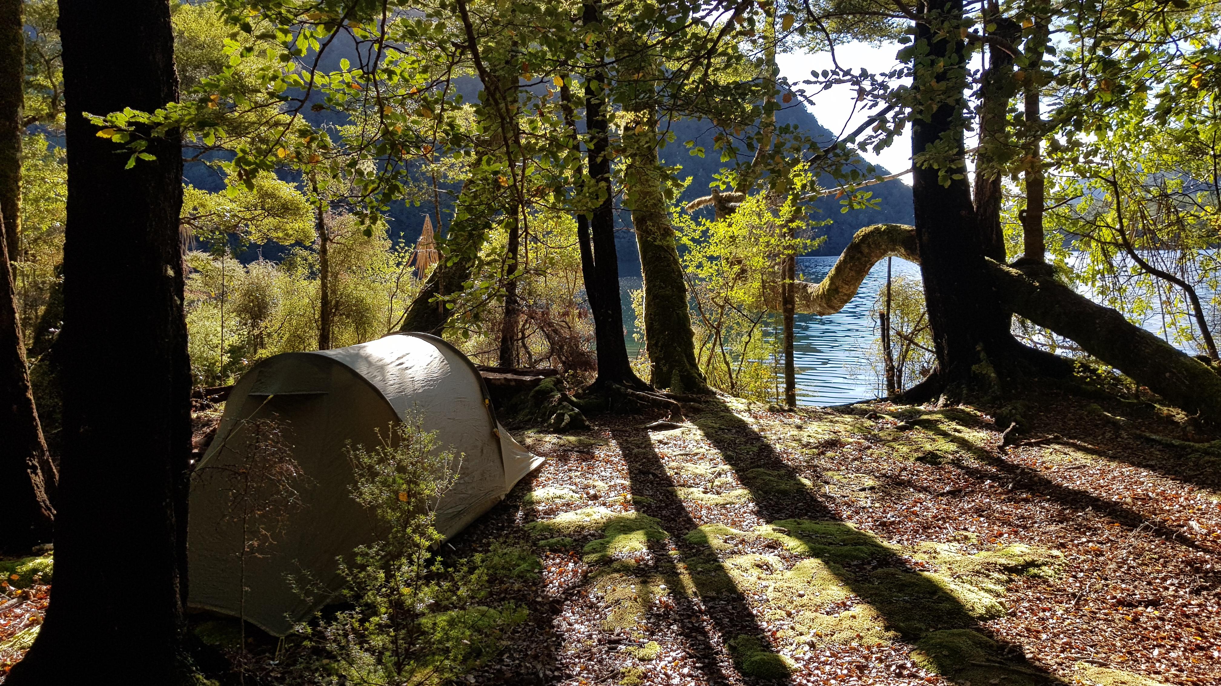 Camping on Lake Daniell