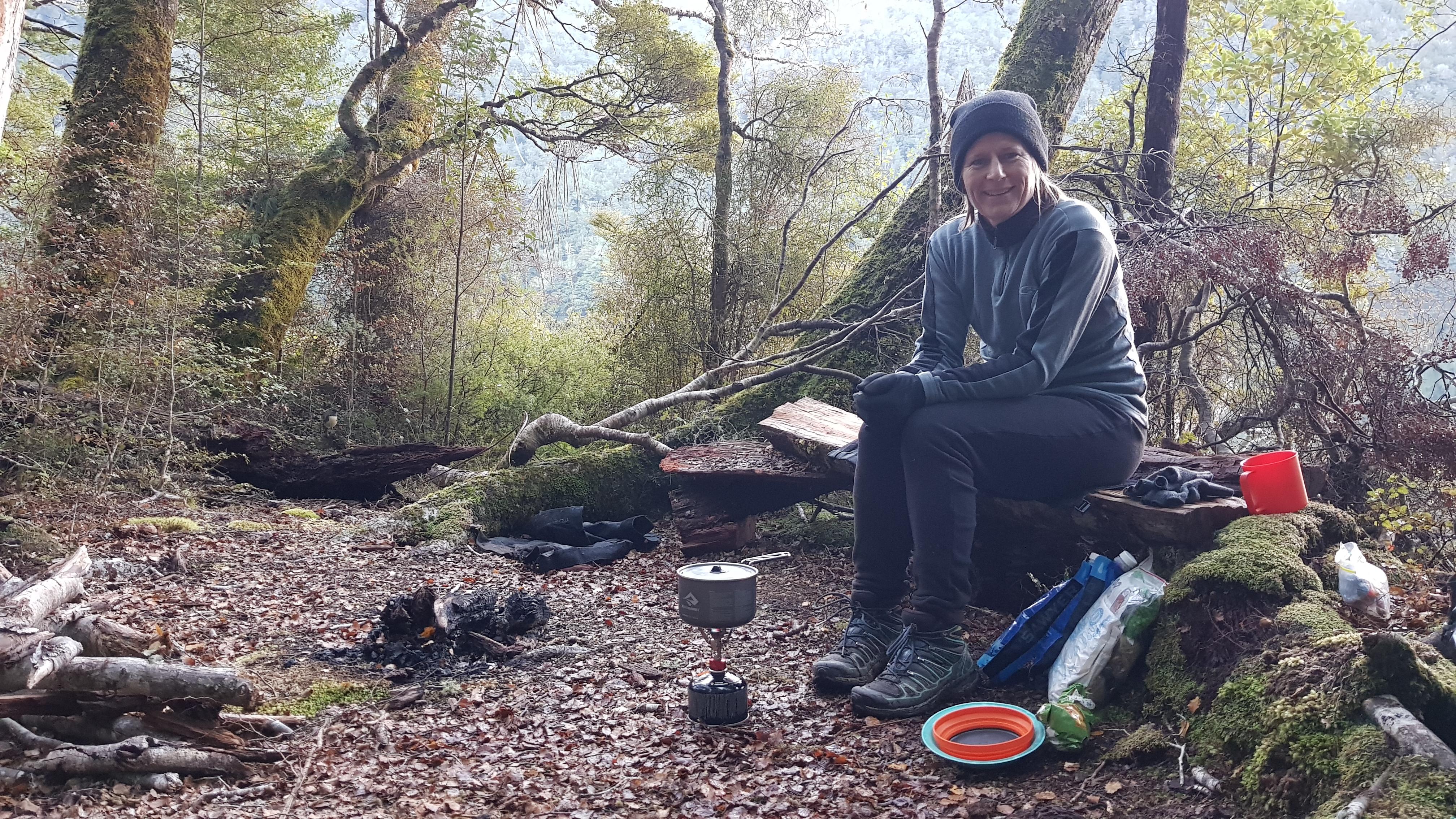 Camping at Lake Daniell Tinytramper