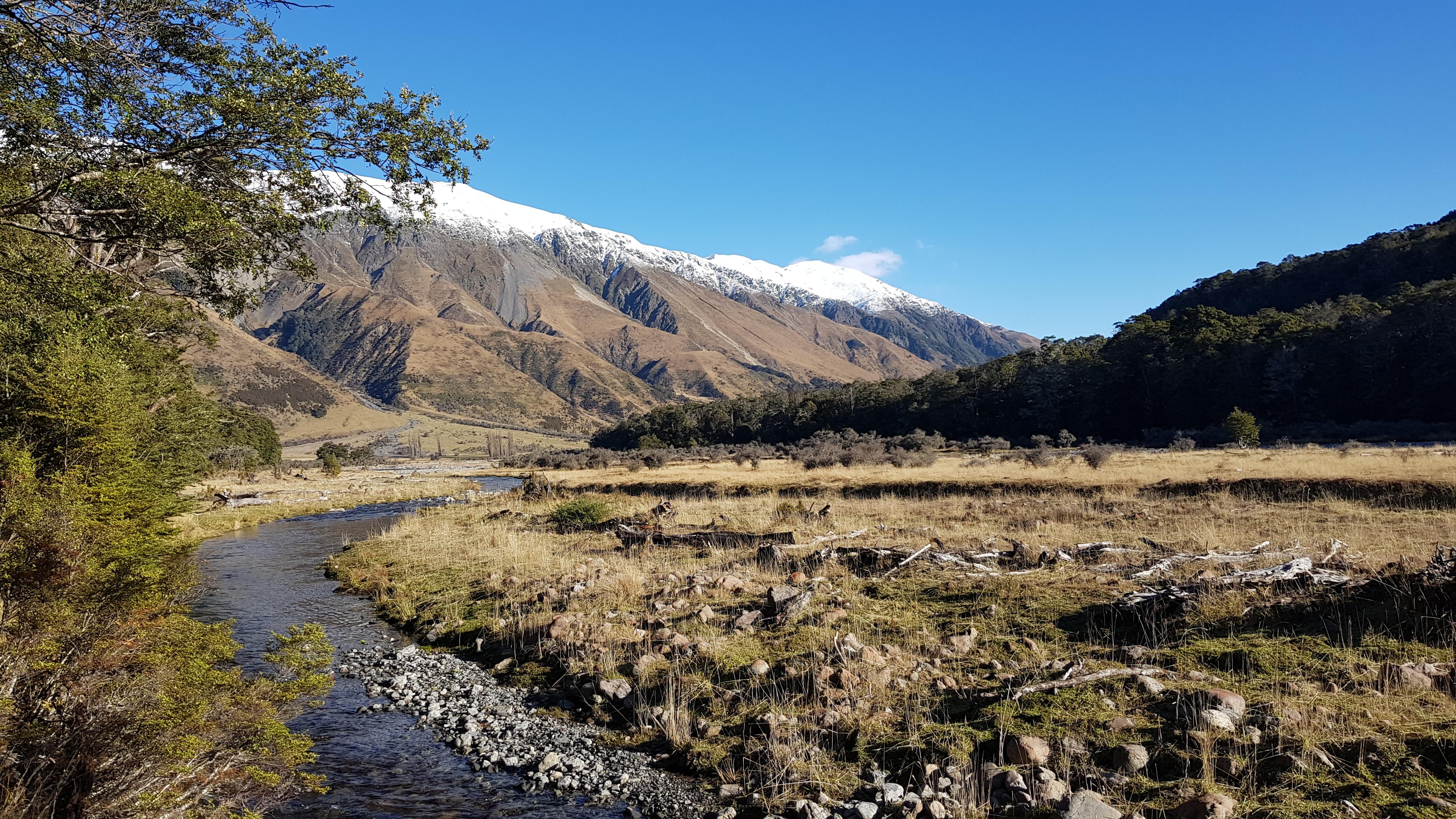 Poplars Range towards Magdalen hut