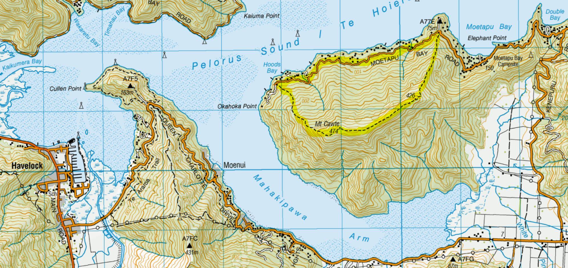 Mt Cawte Map