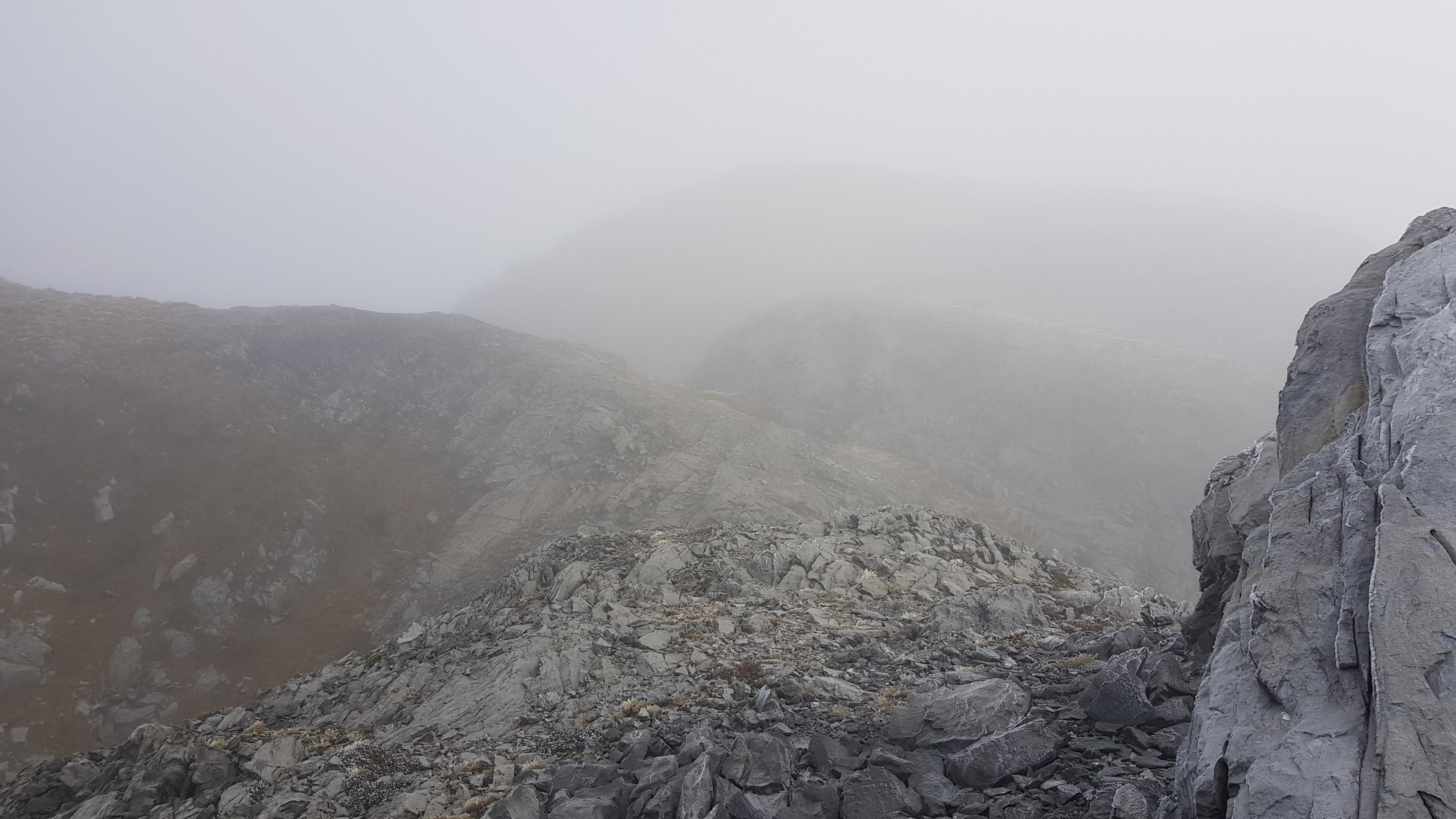 Into the cloud Ellis Basin Route