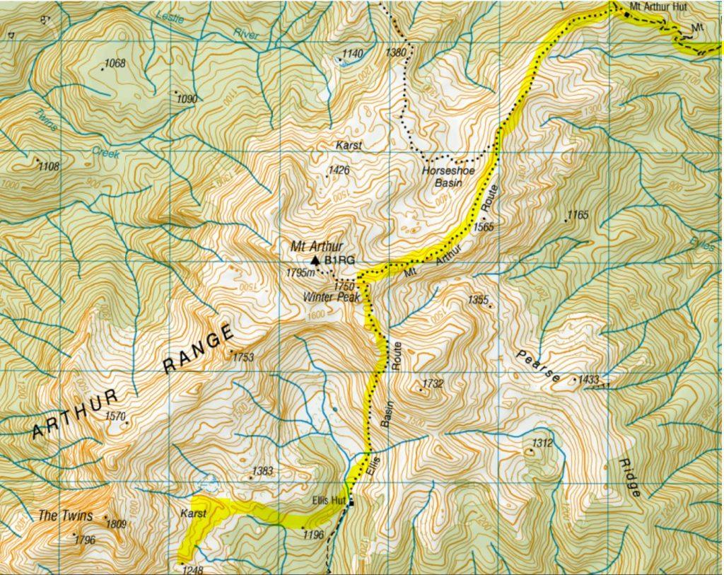 Ellis Basin Route Map