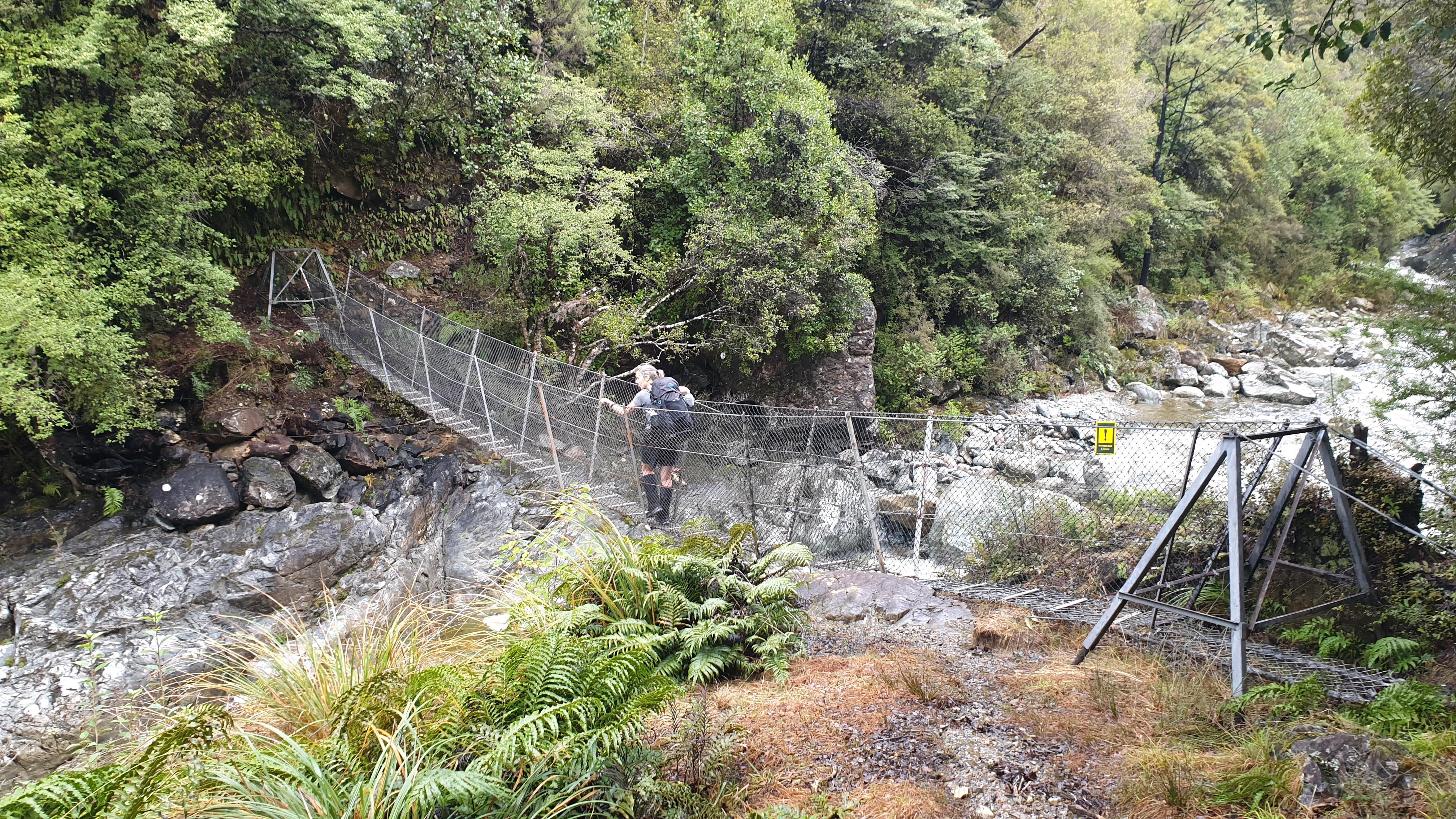 Crossing the Takaka River